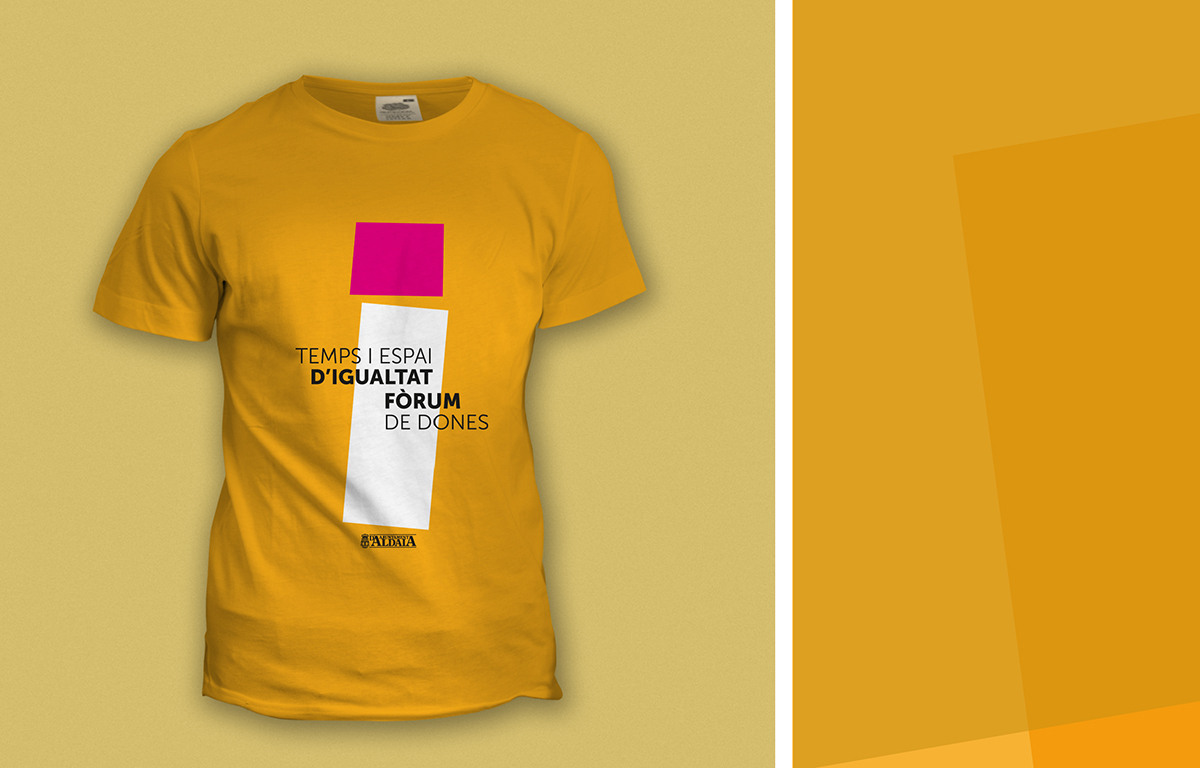 camiseta diseño dones aldaia mujer merchandising comunicación gráfica igualdad promoción