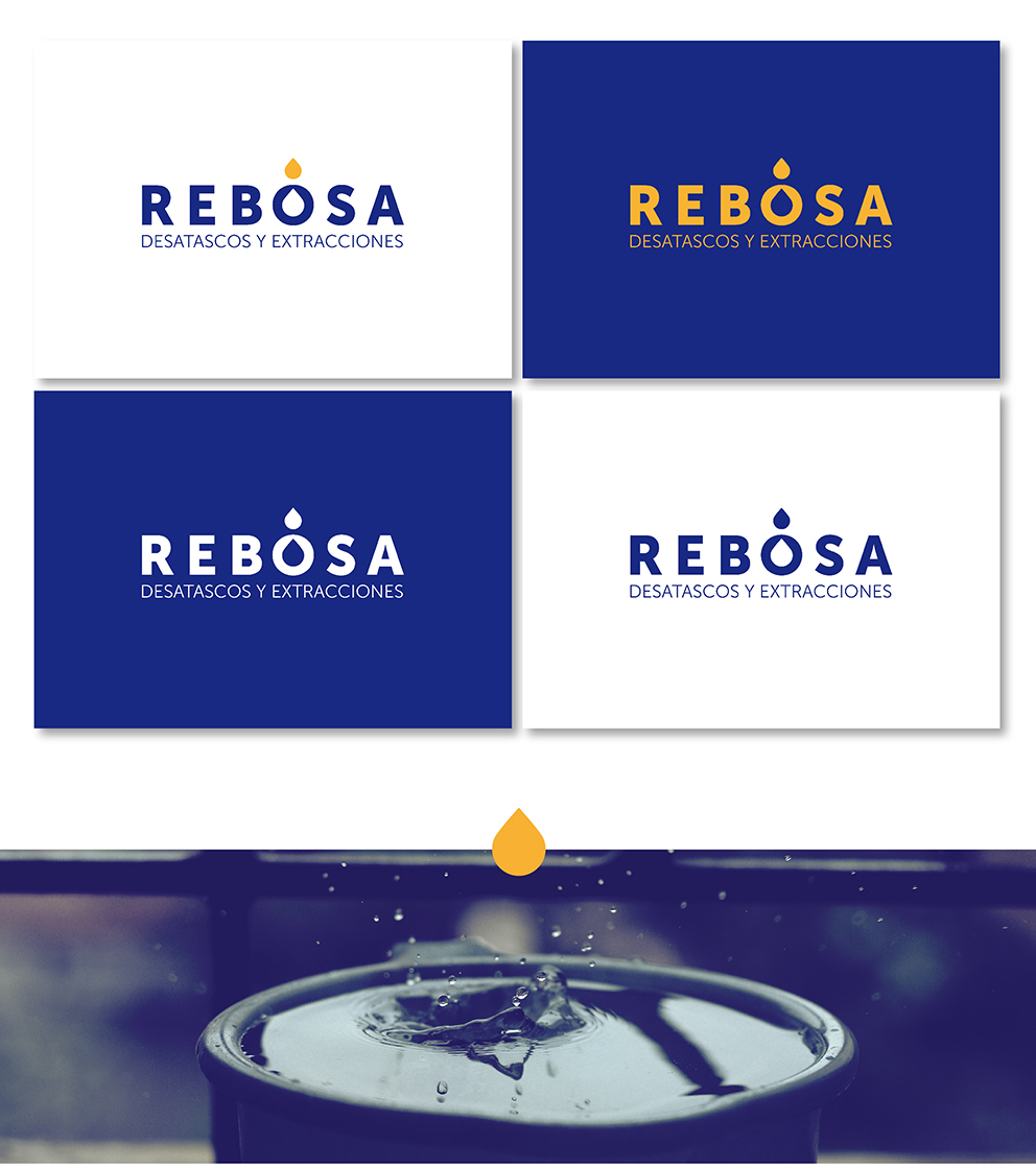 identidad corporativa rebosa marca naming diseño desatascos extracciones