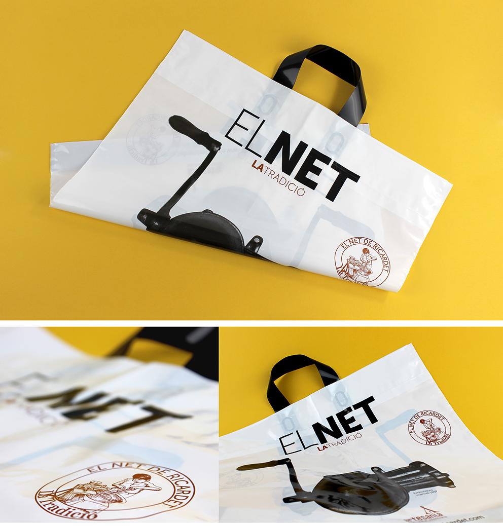 diseño bolsa el net marca identidad corporativa diseño gráfico aplicación gráfica carnicería torrent