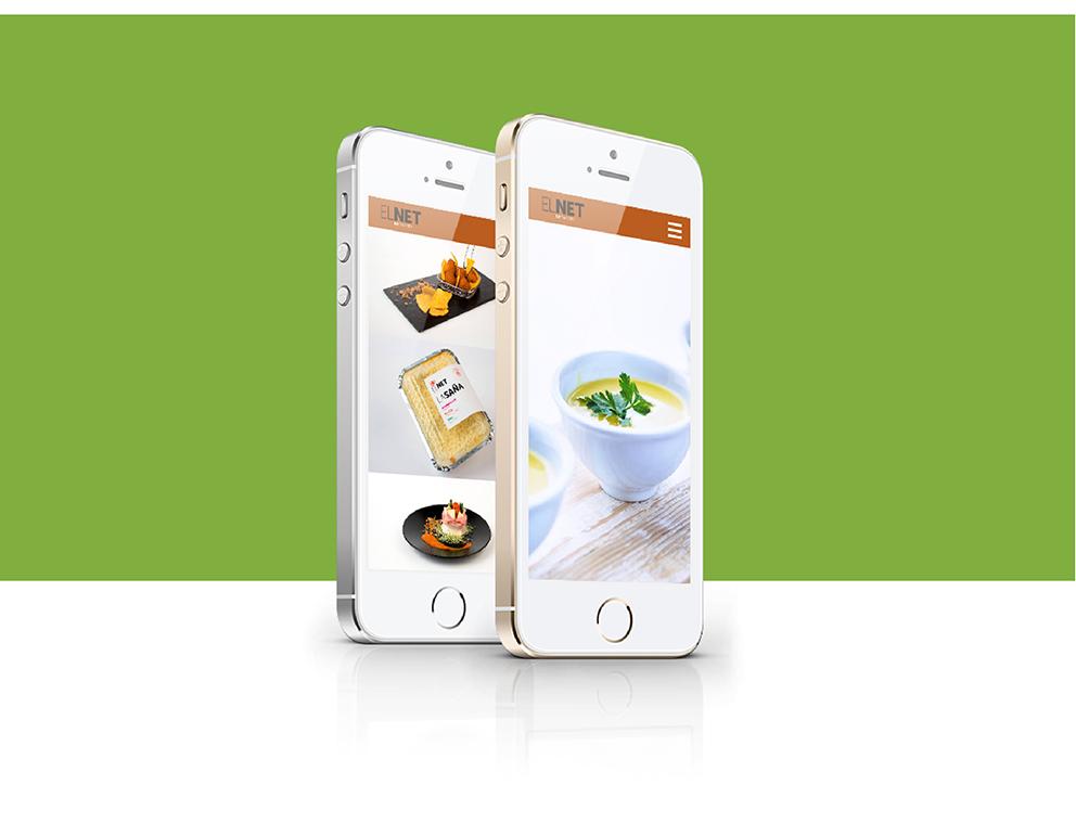 diseño el net marca identidad corporativa diseño gráfico aplicación gráfica carnicería torrent diseño web responsive parallax jquery html5 phone