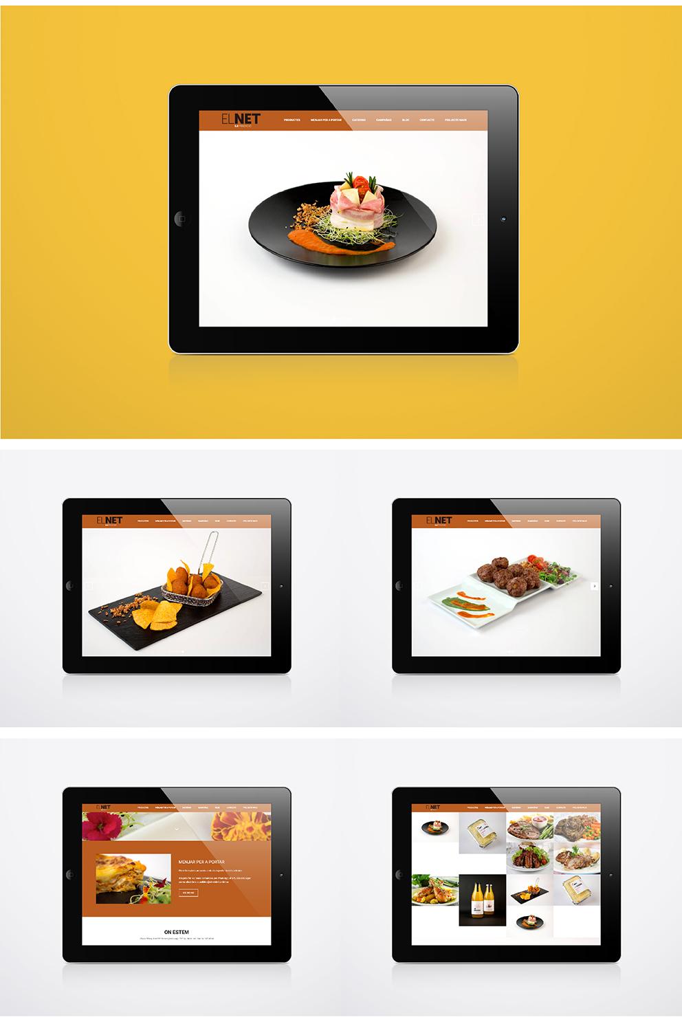 diseño el net marca identidad corporativa diseño gráfico aplicación gráfica carnicería torrent diseño web responsive parallax jquery html5 tablet