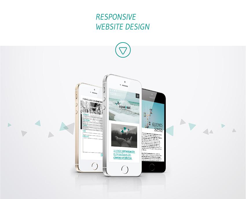 diseño web aguaysal comunicación responsive parallax móvil