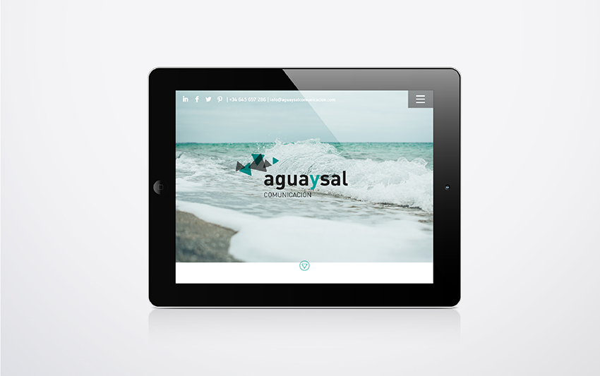 diseño web aguaysal comunicación responsive parallax tablet