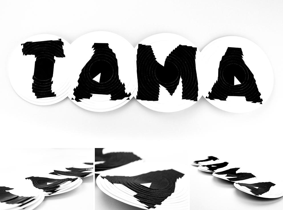 TAMA diseño experimental tipografía