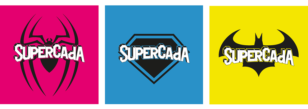 supercada diseño gráfico superhéroe campaña publicidad advertising redes sociales superhéroes superheroínas superman batman spiderman camisetas