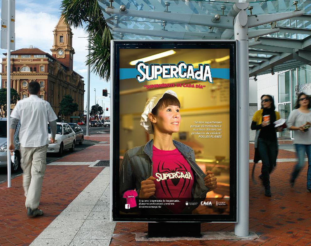 supercada diseño gráfico superhéroe campaña publicidad advertising redes sociales superhéroes superheroínas superman batman spiderman camisetas poster postal comerciantes CAdA Alaquás hastag facebook sorteo cartel mupi