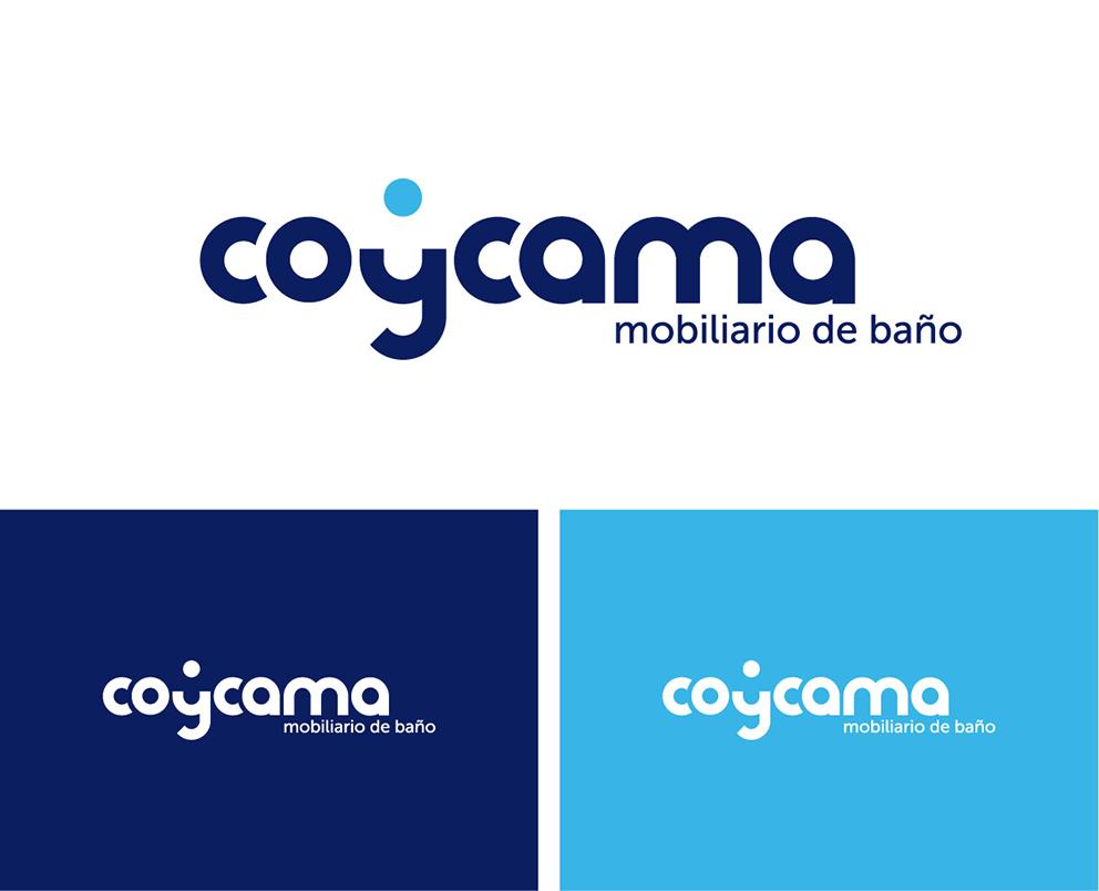 coycama marca identidad corporativa baño diseño gráfico branding