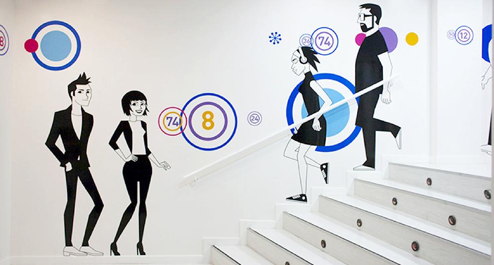 bingo alaquas, identidad corporativa, rediseño, branding, aplicación gráfica, marca, tipografía, diseño gráfico, señaletica, implantación marca, interior, interiorismo, vinilo, vinilo corte