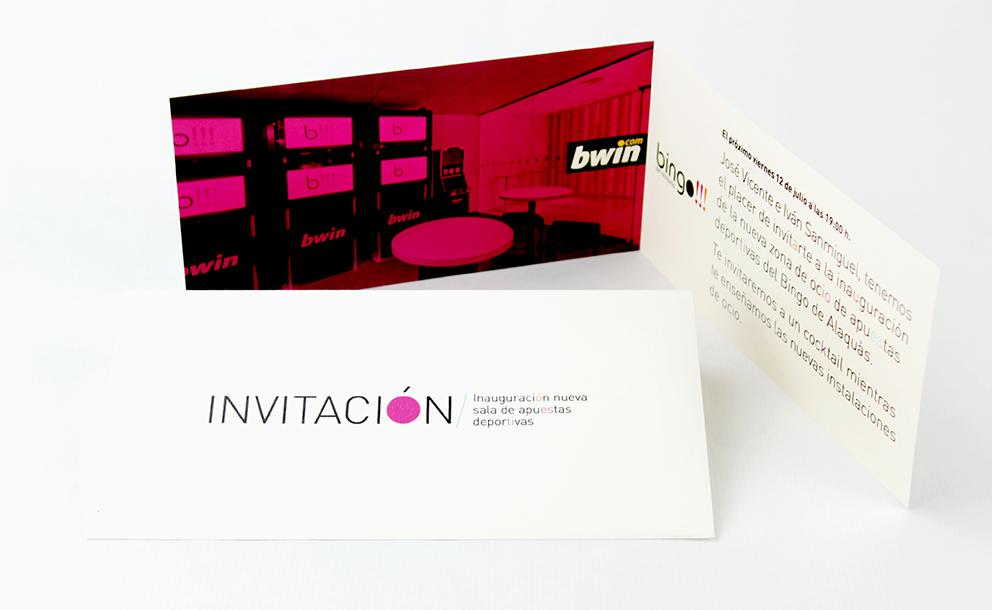 bingo alaquas, identidad corporativa, rediseño, branding, aplicación gráfica, marca, tipografía, diseño gráfico, maquetación, retícula, papelería corporativa, invitación, inauguración, san Valentín, fiesta