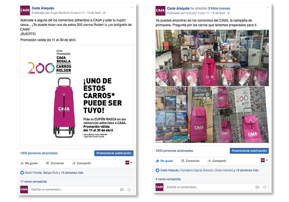 CAdA Alaquas comercio regalo carro rolser concurso diseño gráfico cartel poster campaña publicidad facebook redes sociales PLV rasca primavera fucsia fiebre rosa post like followers