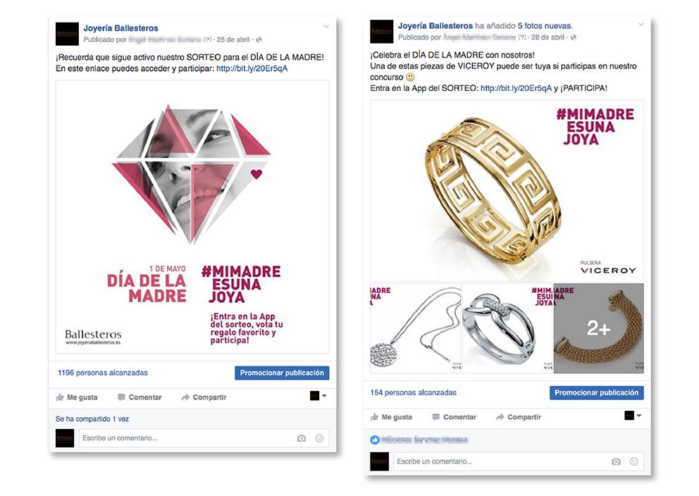 cabecera muro post Facebook joyería Ballesteros día madre joya regalo concurso viceroy socialtools.me social media redes sociales compartir