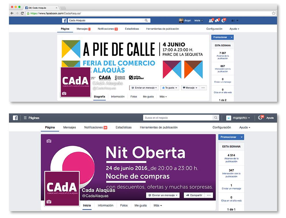 CAdA Alaquas feria market diseño grafico campaña pubilicidad comerciantes nit oberta a pie de calle poster redes sociales facebook comunicación oferta