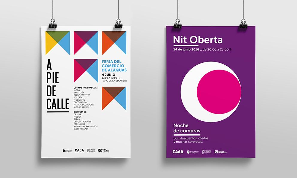 CAdA Alaquas feria market diseño grafico campaña pubilicidad comerciantes nit oberta a pie de calle poster redes sociales facebook comunicación oferta poster cartel