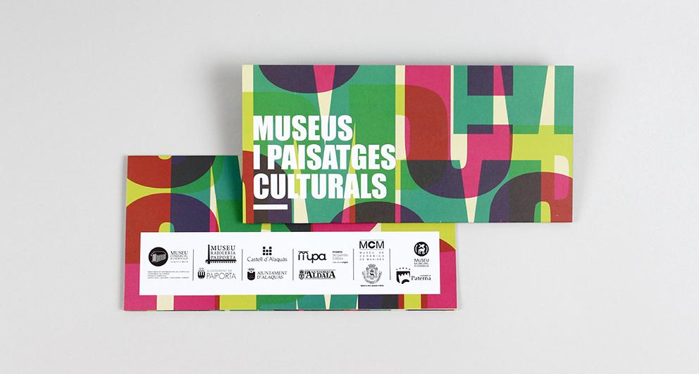 museus horta folleto dia internacional museos diseño grafico valencia paisajes culturales cultura