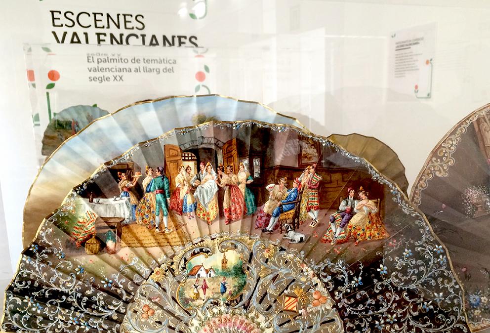 exposicion escenes valencianes diseño grafico vinilo imagen mosaico museo palmito abanico cultura valenciana aldaia naranja modular naranjo