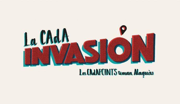 CAdA INVASION cadapoints alaquas rotulo logo marca caligrafia lettering diseño grafico cartel valencia tipografia campaña publicidad web street marketing