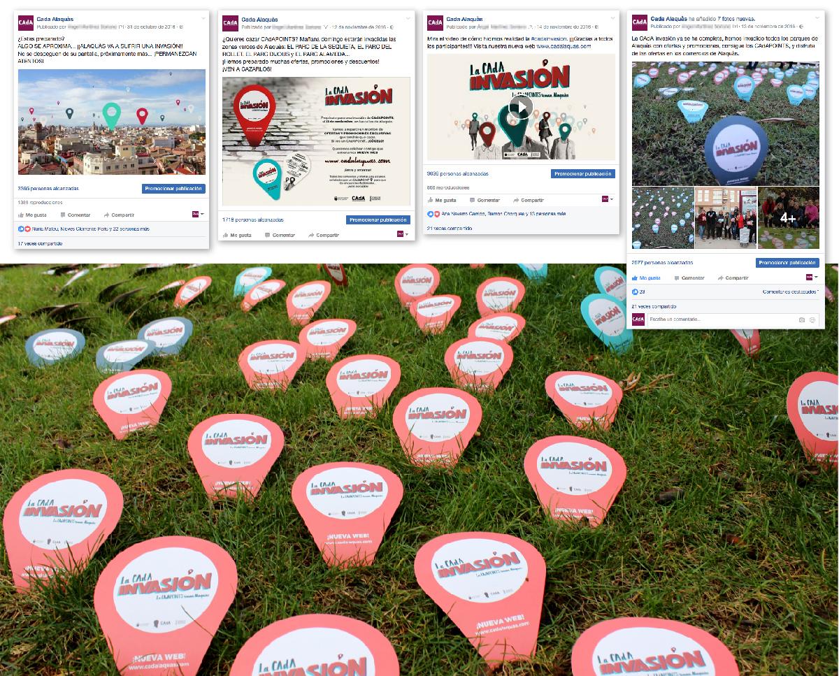 web cada cadainvasion comercios mapa google CAdA INVASION cadapoints alaquas rotulo logo marca caligrafia lettering diseño grafico cartel valencia tipografia campaña publicidad web street marketing cartel