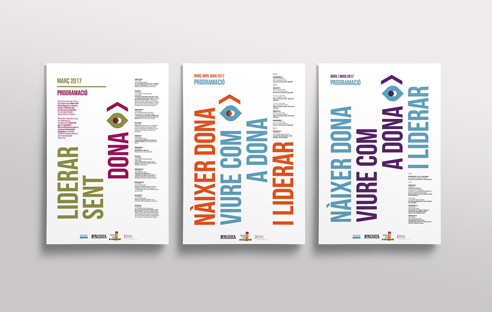 cartel dona campaña aldaia liderar igualdad angelgrafico diseño valencia