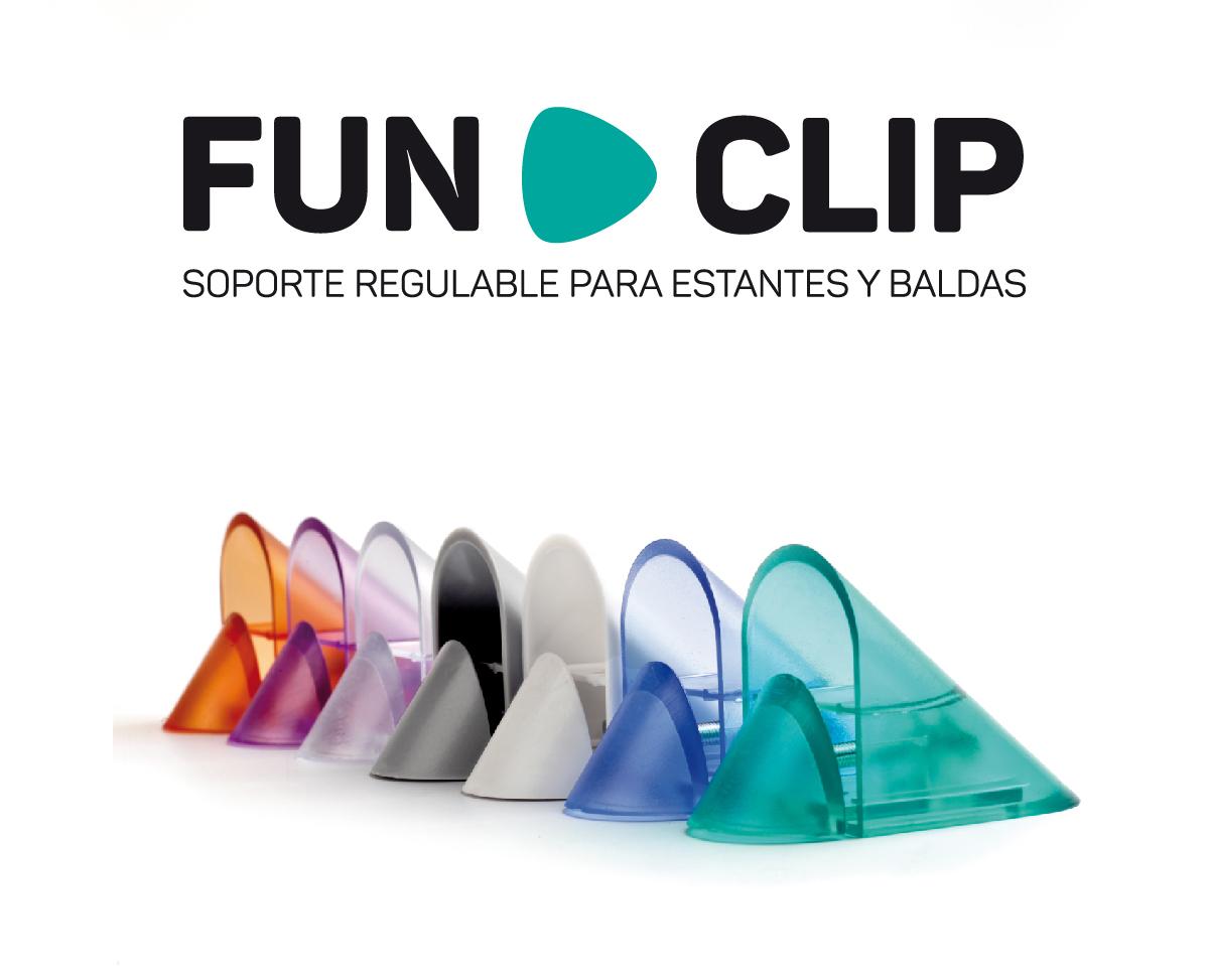rei fun clip marca balda estanteria soporte regulable diseño gráfico valencia producto reunión industrial herraje divertido facil